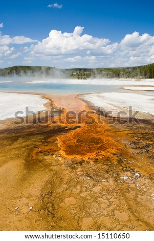 Colorful Hot Spring - stock photo