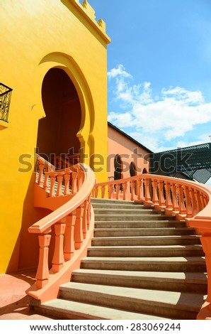 colorful house building bright background wall colorful wall town street village tourism