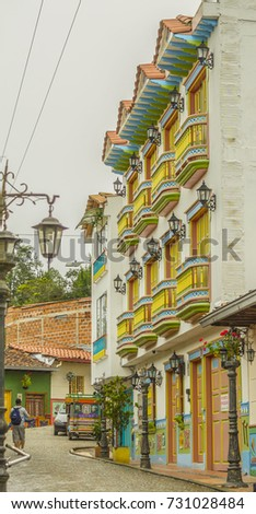 Colorful house - Guatape city, Colombia