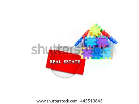 Colorful house puzzle- Real Estate concept