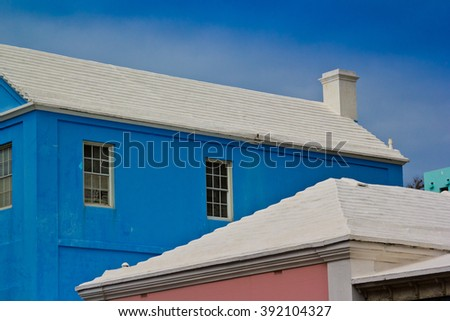 colorful houses and white roofs of Bermuda