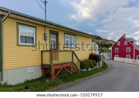 Colorful houses in Trinity, Newfoundland