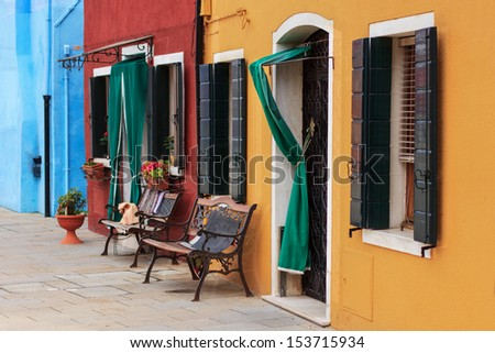Colorful houses in Venice, Italy - stock photo