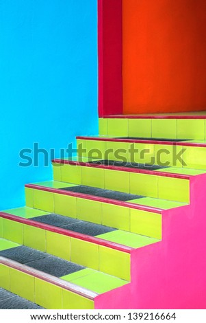 Colorful housing ladder. - stock photo