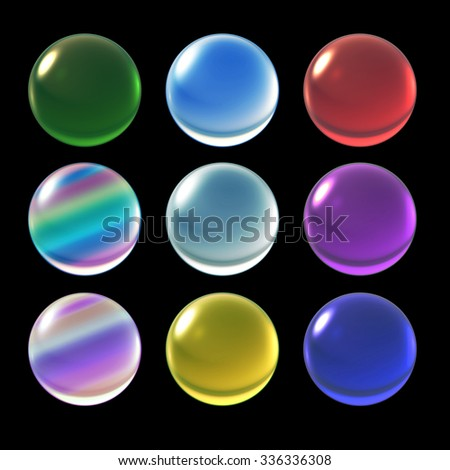 colorful ice crystal ball background for Christmas celebration theme - stock photo