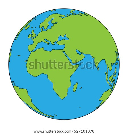 Colorful illustration background with globe concept. Earth Day.