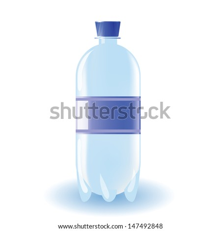 colorful illustration with bottle of water for your design - stock photo
