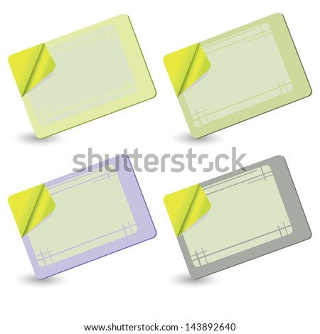 colorful illustration with cards for your design - stock photo