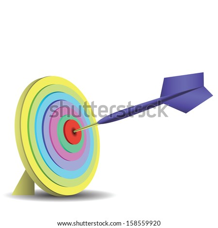 colorful illustration with dart  for your design - stock photo