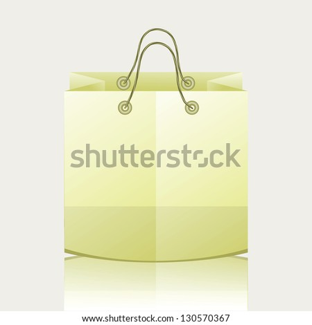 colorful illustration with paper shopping bag for your design