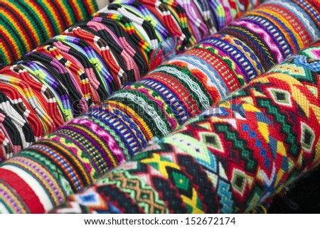 Colorful image of bracelets  - stock photo