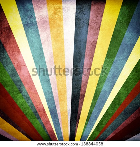 Colorful image with sun beam grunge texture on background - stock photo