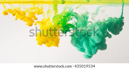 colorful inks in water - stock photo