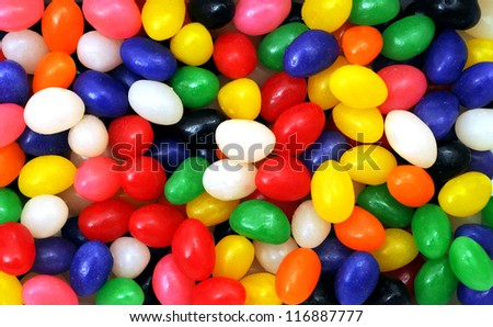 colorful jelly bean candies for background use