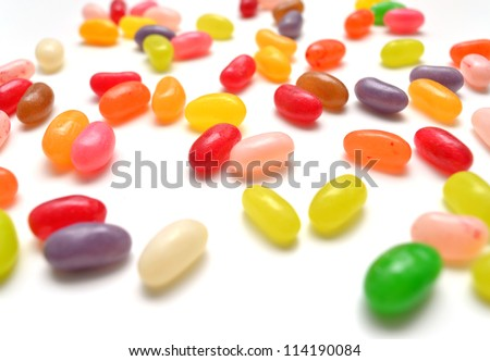 Colorful jellybeans close-up