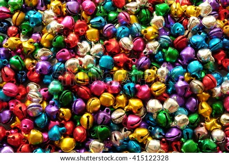 colorful jingle bells, Abstract background.  - stock photo