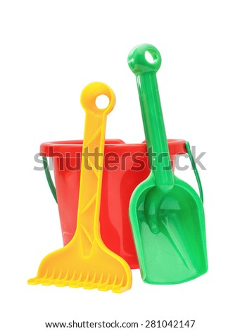 Colorful kids garden tools, toy