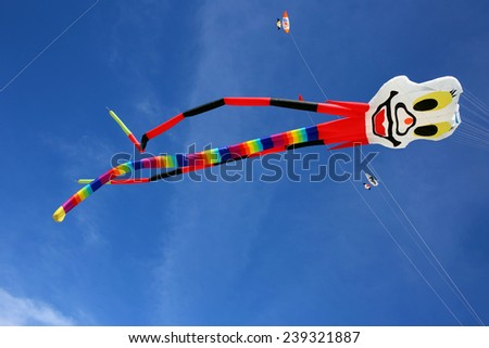 Colorful kite in Asia