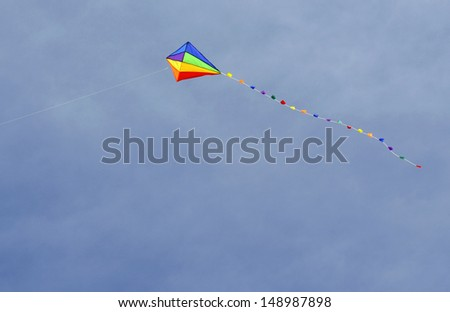 Colorful kite with blue sky