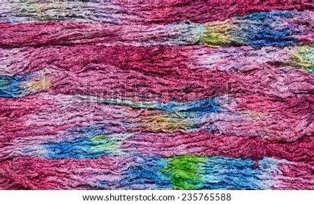 Colorful knitting yarn - stock photo