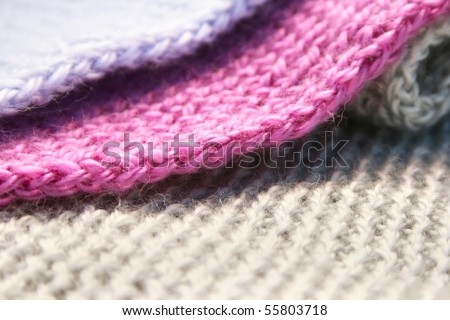 Colorful knitwear as a background. - stock photo