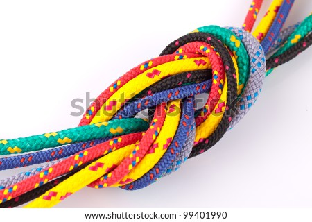 colorful knot - stock photo