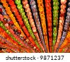 Colorful lanterns on buddha's birthday - stock photo
