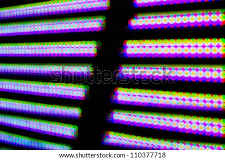 colorful LED light abstract background - stock photo