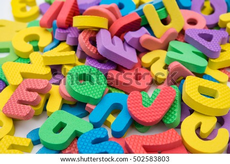 colorful letters of alphabet jigsaw puzzle