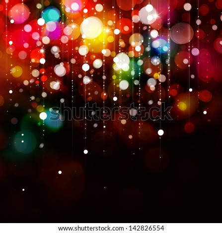 Colorful lights on black background. - stock photo