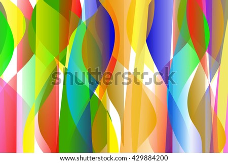 colorful lines and shapes abstract background
