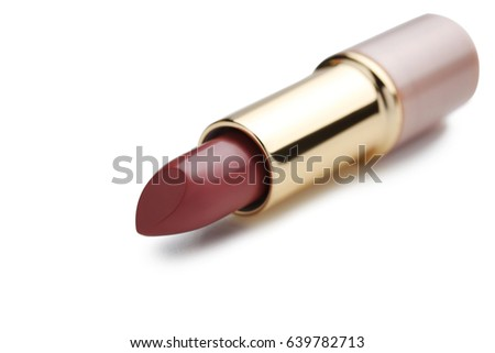 Colorful lipstick isolated on a white
