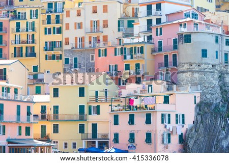 colorful little house in Italy - stock photo