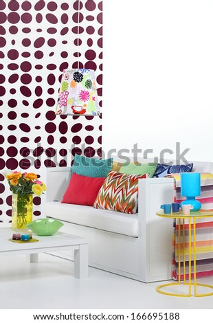 Colorful living room  - stock photo