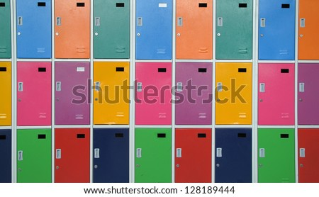 Colorful lockers - stock photo