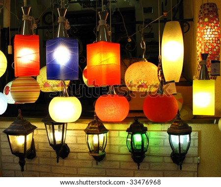 Colorful lumps in shop - stock photo