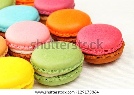 Colorful Macaron - stock photo