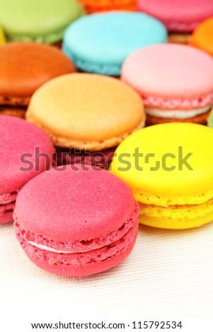 Colorful macaroon - stock photo