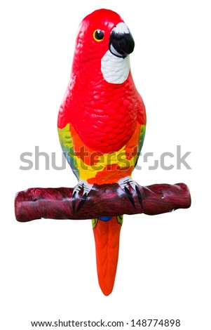 Colorful macaws isolated in white background