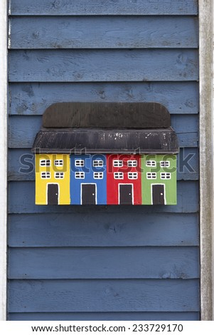 Colorful mail box in St John's, Newfoundland, Canada - stock photo