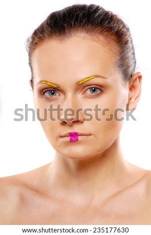 Colorful Make-Up - stock photo