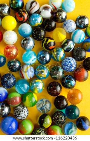 Colorful marble balls background