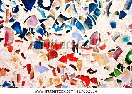 colorful marble floor - stock photo