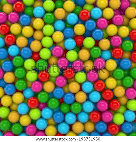 colorful marbles, balls with reflects - stock photo
