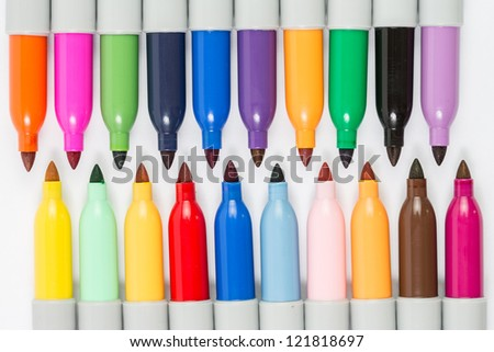 Colorful markers pens isolated