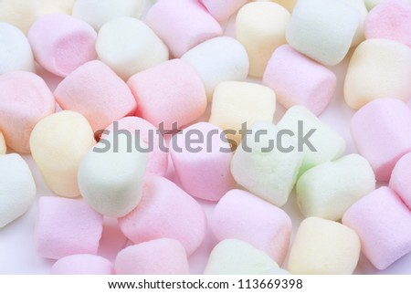 colorful marshmallows candy