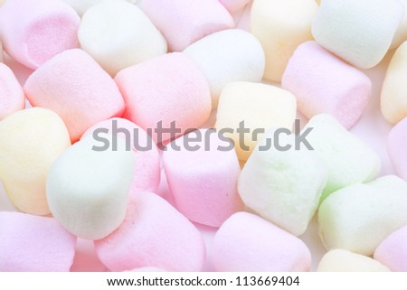 colorful marshmallows candy - stock photo