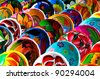 Colorful Mayan Bowls for Sale - stock photo