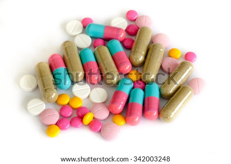 Colorful medications for weight control and diet