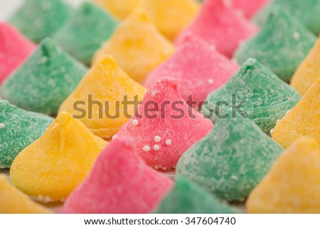 Colorful melt away mint candy - stock photo
